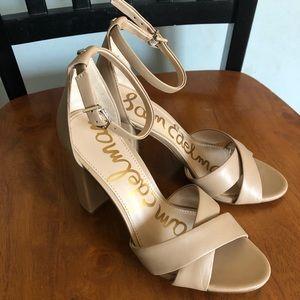 Sam Edelman Yancy Nude Block heel Sandals